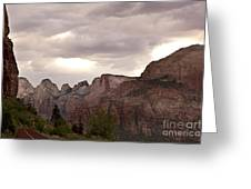 Storm In Zion Greeting Card