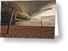 Volley Ball Net Greeting Card