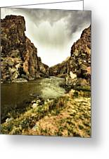 Storm On The Wind River Greeting Card