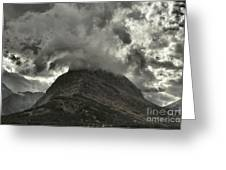 Storm Over Grinnell Greeting Card