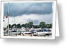 Storm Over Lake Erie Greeting Card