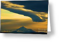 Storm Over Shasta Greeting Card