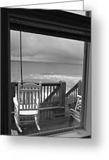 Storm-rocked Beach Chairs Greeting Card
