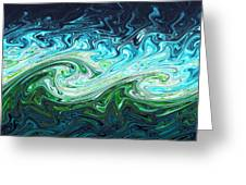 Storm Waves, Chaos Model Greeting Card by Eric Heller