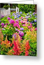 Storming The Garden Gate Greeting Card