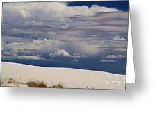 Storm's Contrast With White Sand Greeting Card