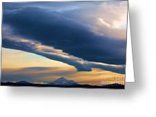 Storms Over Shasta Greeting Card