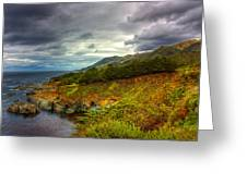 Stormy Coast Greeting Card by Matt  Trimble