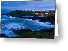 Stormy Coast, Scotland Greeting Card