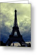 Stormy Day In Paris Greeting Card by Carol Groenen