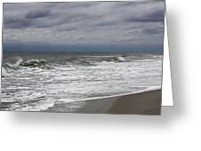Stormy Day In Surfside Greeting Card