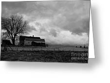 Stormy Day On The Farm Greeting Card
