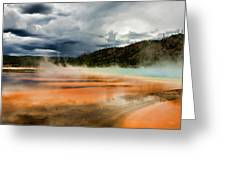 Stormy Grand Prismatic Spring Greeting Card