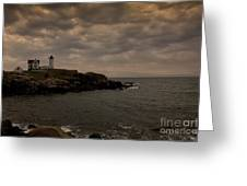 Stormy Nubble Greeting Card by Timothy Johnson
