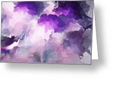 Stormy Purple Greeting Card