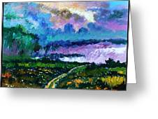 Stormy Road Greeting Card