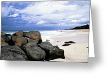 Stormy Sky Banzai Beach Greeting Card by Thomas R Fletcher