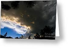 Stormy Sky Greeting Card by Terry Elniski