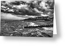 Stormy Southwold Greeting Card
