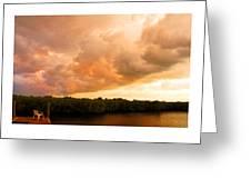 Stormy Sundowner Greeting Card