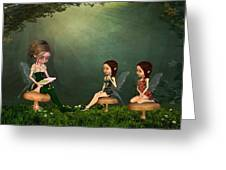 Story Timei N The Forest Greeting Card
