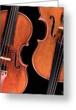 Stradivarius Violin And Maggini Viola Greeting Card