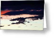 Strange Clouds Greeting Card