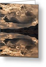 Strange Clouds Reflected Greeting Card