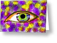 Strange Eye II Greeting Card