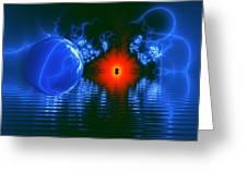 Strange Lights On The Lake Greeting Card by Pam Blackstone