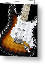 Classic Guitar Abstract 2 Greeting Card