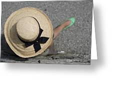 Straw Hat And Green Shoes Greeting Card