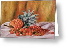 Strawberries And Pineapple Greeting Card