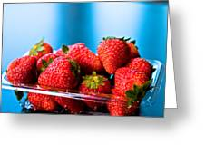 Strawberries In A Plastic Sale Box  Greeting Card
