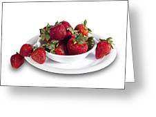 Strawberries In A White Bowl No.0029v1 Greeting Card