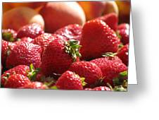 Strawberries With Peaches Greeting Card