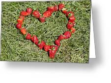 Strawberry Heart Greeting Card