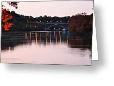 Strawberry Mansion Bridge At Dusk Greeting Card