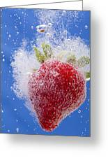 Strawberry Soda Dunk 1 Greeting Card