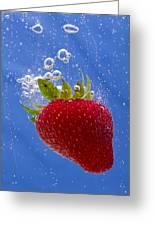 Strawberry Soda Dunk 3 Greeting Card by John Brueske