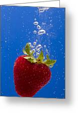 Strawberry Soda Dunk 5 Greeting Card by John Brueske