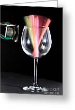Straws In A Glass At Resonance Greeting Card