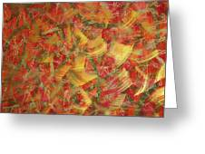 Streaks Of Gold Greeting Card