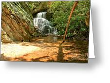 Stream To The Falls Greeting Card