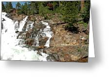 Streaming Glen Alpine Falls Greeting Card