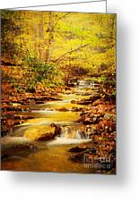 Streams Of Gold Greeting Card