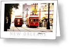 Street Cars On Canal Street Greeting Card