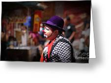 Street Clown At Central Park Greeting Card