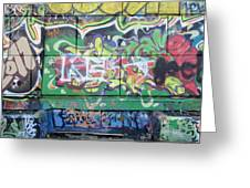 Street Graffiti - Tubs IIi Greeting Card