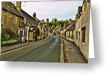 Street In Castle Combe Greeting Card